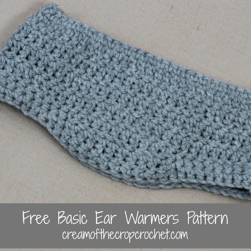 Cream Of The Crop Crochet ~ Basic Ear Warmers {Free Crochet Pattern}