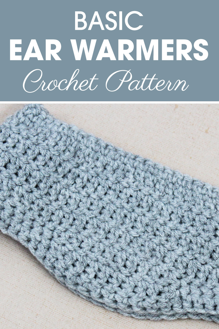This basic ear warmers pattern is great, because it comes down a little over the ears to make sure they stay warm. #crochet #crochetlove #crochetaddict #crochetpattern #crochetinspiration #ilovecrochet #crochetgifts #crochet365 #addictedtocrochet #yarnaddict #yarnlove