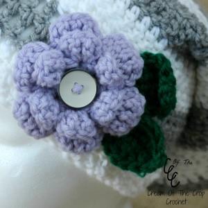 Cream Of The Crop Crochet ~ Flower Slouchy Hat {Free Crochet Pattern}