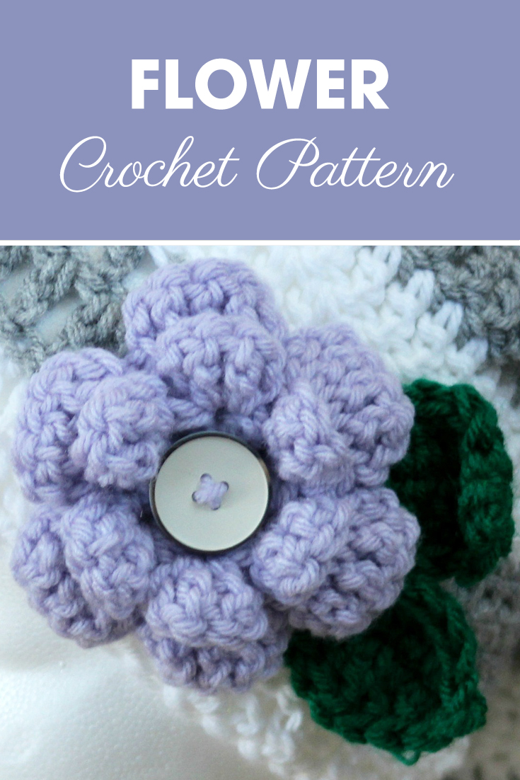This Flower Pattern was originally designed for the Flower Slouchy Hat although it can be used on many different items. #crochet #crochetlove #crochetaddict #crochetpattern #crochetinspiration #ilovecrochet #crochetgifts #crochet365 #addictedtocrochet #yarnaddict #yarnlove #crochetaccessory