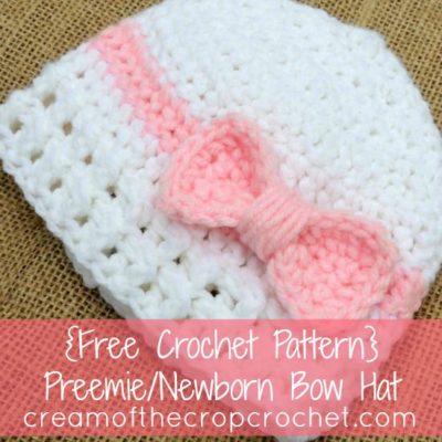 Preemie Newborn Bea Hat Crochet Pattern