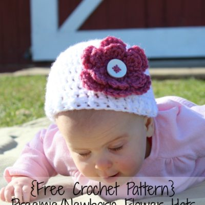 Preemie Newborn Gabrielle Hat Crochet Pattern