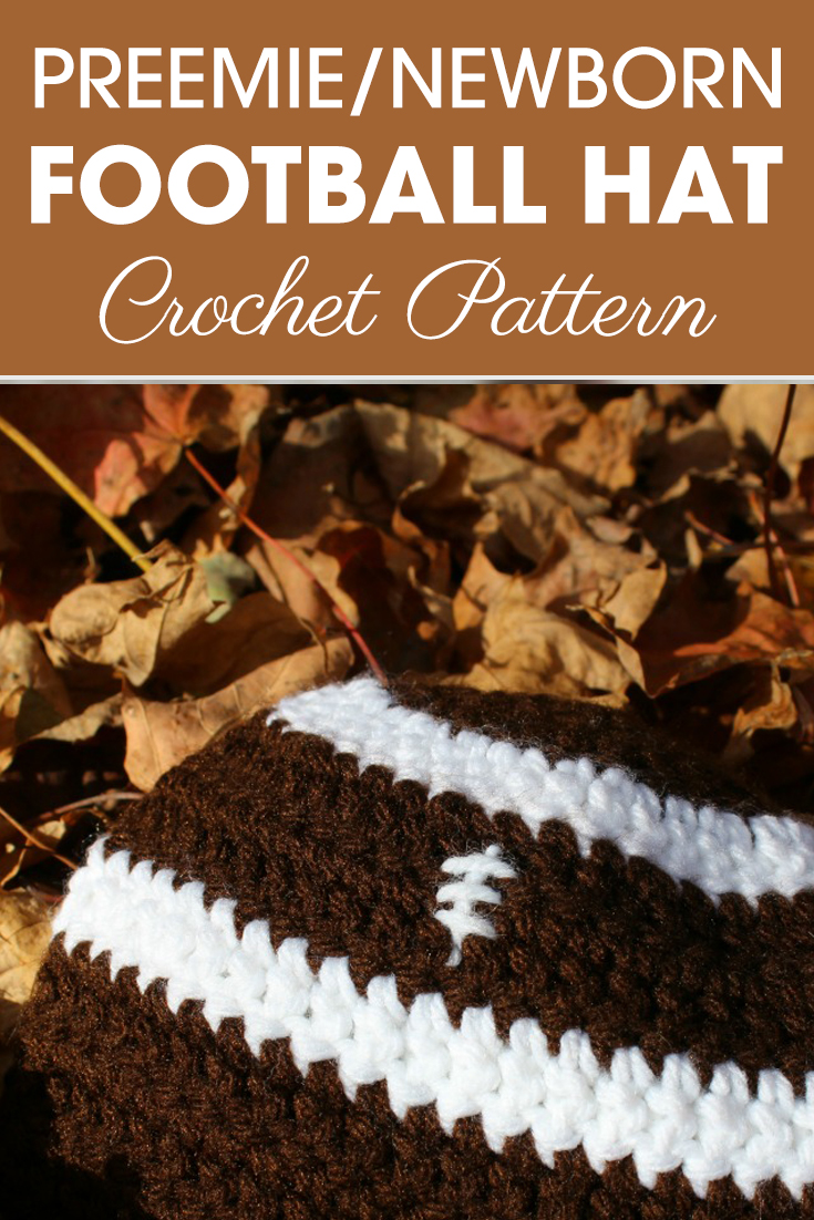 What a cute preemie/newborn football hats for game day?! Lets make lots of these for the NICU! #crochet #crochetlove #crochetaddict #crochetpattern #crochetinspiration #ilovecrochet #crochetgifts #crochet365 #addictedtocrochet #yarnaddict #yarnlove #crochethat