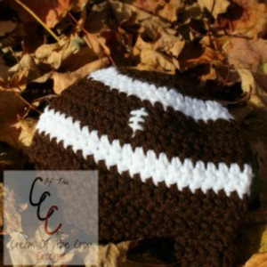 Cream Of The Crop Crochet ~ Preemie/Newborn Football Hats {Free Crochet Pattern}