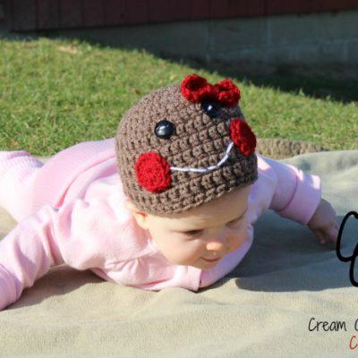 Preemie Newborn Gingerbread Hat Crochet Pattern