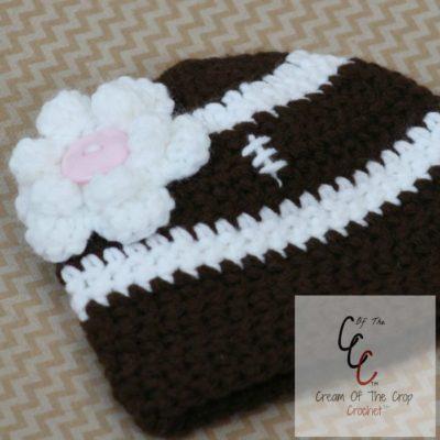 Preemie Newborn Football Hat Crochet Pattern