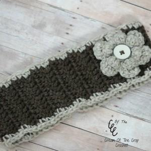 Cream Of The Crop Crochet ~ Flower Ear Warmers {Free Crochet Pattern}