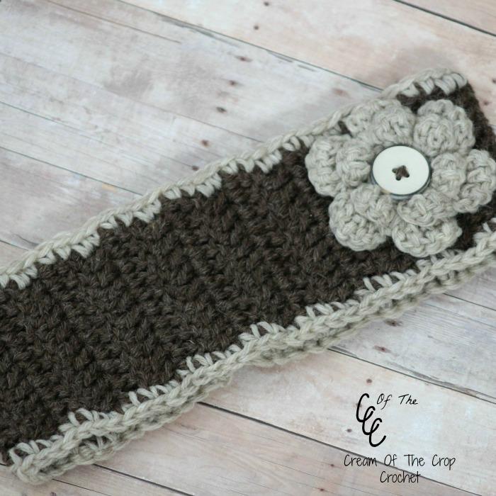Cream Of The Crop Crochet Flower Ear Warmers Free Crochet Pattern