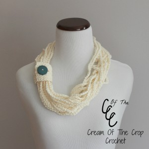 Cream Of The Crop Crochet ~ Chain Scarf {Free Crochet Pattern}