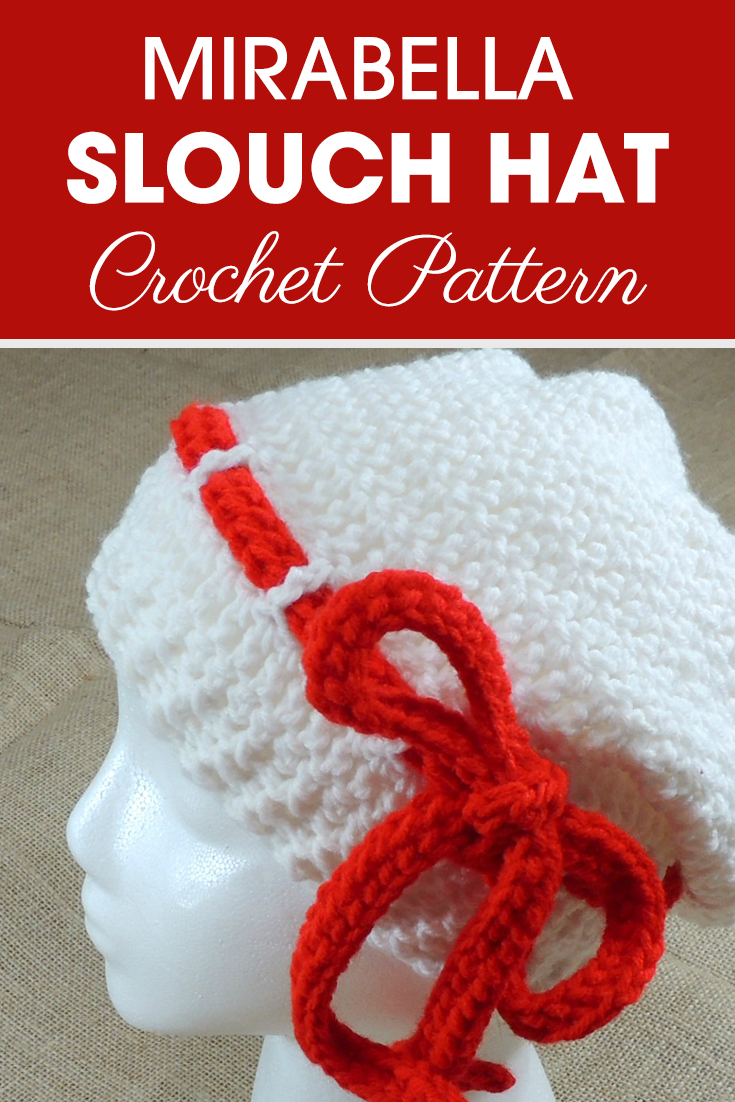 Make sure to make this slouchy hat! This teen to small adult slouchy hat is double crochet with ribbed edging, and a bow going all the way around looking like its a belt! #crochet #crochetlove #crochetaddict #crochetpattern #crochetinspiration #ilovecrochet #crochetgifts #crochet365 #addictedtocrochet #yarnaddict #yarnlove #crochethat