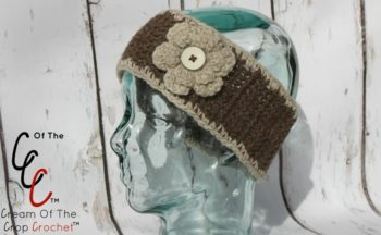 Cream Of The Crop Crochet ~ Flower Ear Warmers {Free Crochet Pattern}