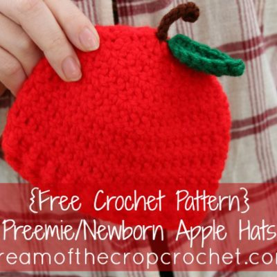 Preemie Newborn Apple Hat Crochet Pattern