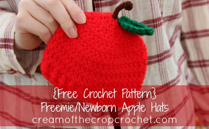 Cream Of The Crop Crochet Preemienewborn Apple Hats Free Crochet