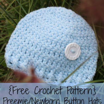 Preemie Newborn Caleb Hat Crochet Pattern