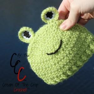 Cream Of The Crop Crochet ~ Preemie/Newborn Frog Hat {Free Crochet Pattern}