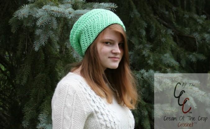Cream Of The Crop Crochet ~ Round Slouchy Hat {Free Crochet Patterns}