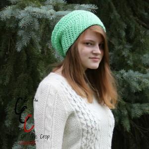 Cream Of The Crop Crochet ~ Round Slouchy Hat {Free Crochet Pattern}
