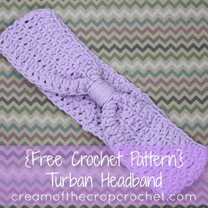 Cream Of The Crop Crochet Turban Headband Free Crochet Pattern