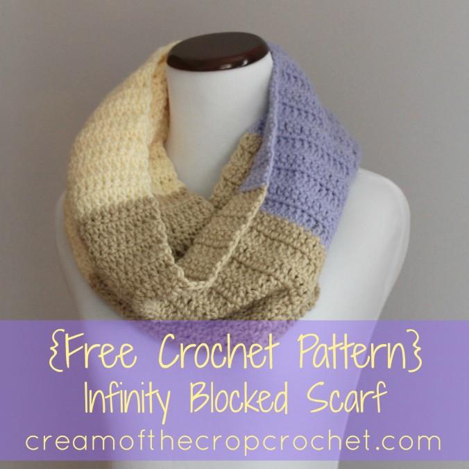 Cream Of The Crop Crochet ~ Infinity Blocked Scarf {Free Crochet Pattern}