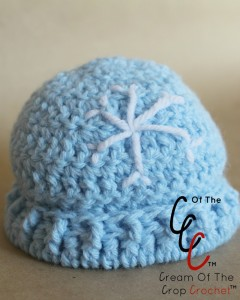Cream Of The Crop Crochet ~ Preemie/Newborn Snowflake Hats {Free Crochet Pattern}