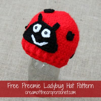 Preemie Newborn Ladybug Hat Crochet Pattern