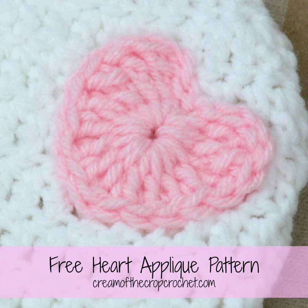 Heart Applique Crochet Pattern