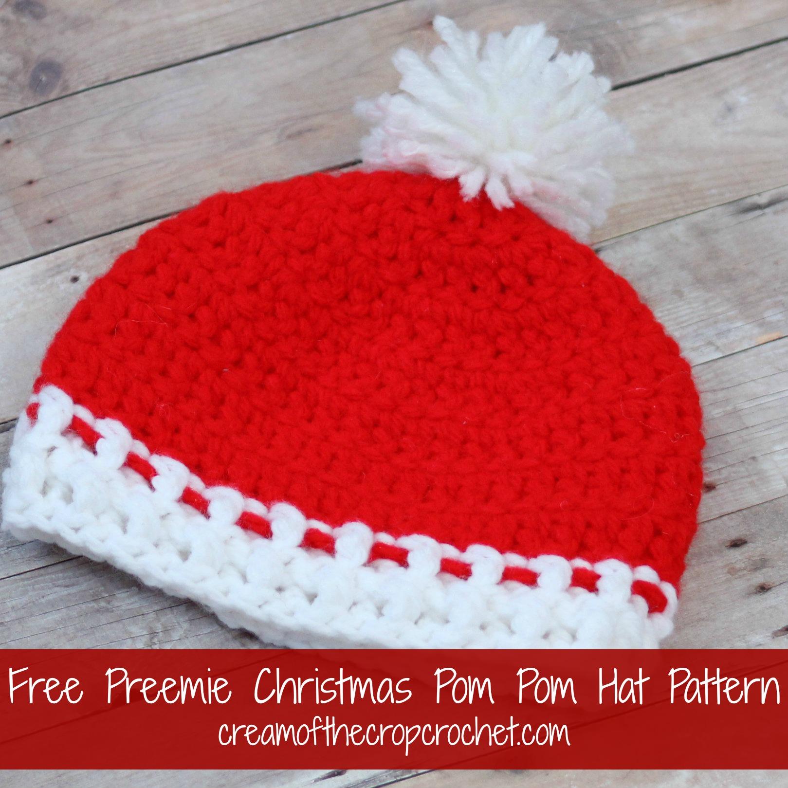 Preemie Newborn Traditional Hat Crochet Pattern