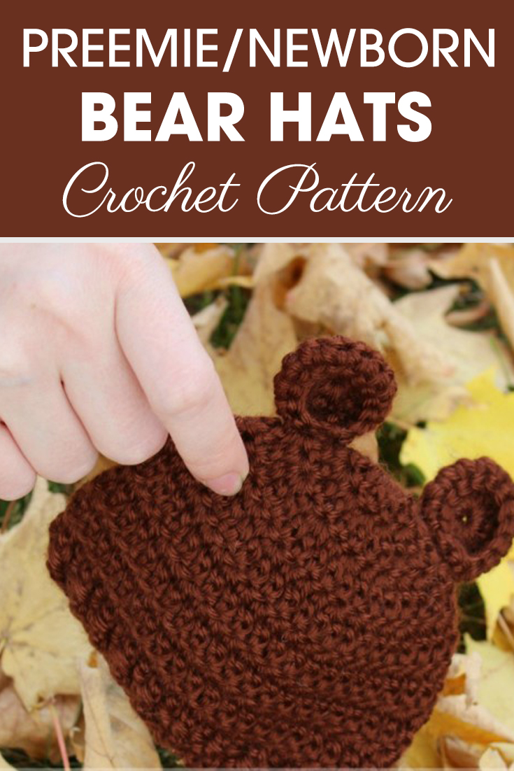 This is the perfect preemie/newborn bear ears hats if you are wanting to make a quick and easy animal hat! #crochet #crochetlove #crochetaddict #crochetpattern #crochetinspiration #ilovecrochet #crochetgifts #crochet365 #addictedtocrochet #yarnaddict #yarnlove