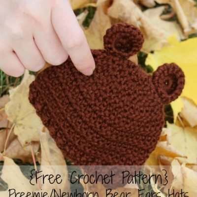 Preemie Newborn Bear Hat Crochet Pattern