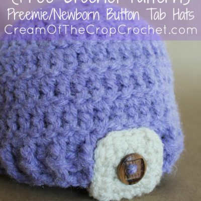 9e9b2792b9b Preemie Newborn Button Tab Hat Crochet Pattern