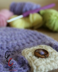 Cream Of The Crop Crochet ~ Preemie/Newborn Button Tab Hats {Free Crochet Pattern}