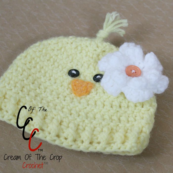 Cream Of The Crop Crochet Preemienewborn Chick Hats Free Crochet