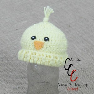 Cream Of The Crop Crochet ~ Preemie/Newborn Chick Hats {Free Crochet Pattern}