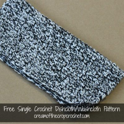 Single Crochet Dishcloth Washcloth Crochet Pattern