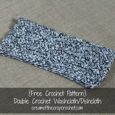 Double Crochet Washcloth Dishcloth Crochet Pattern