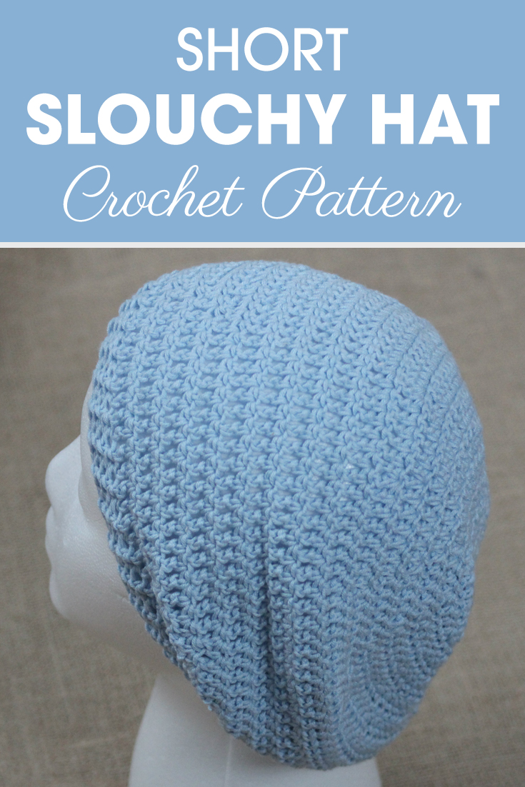 This short slouchy hat would be the perfect weekend pattern! #crochet #crochetlove #crochetaddict #crochetpattern #crochetinspiration #ilovecrochet #crochetgifts #crochet365 #addictedtocrochet #yarnaddict #yarnlove #crochethat