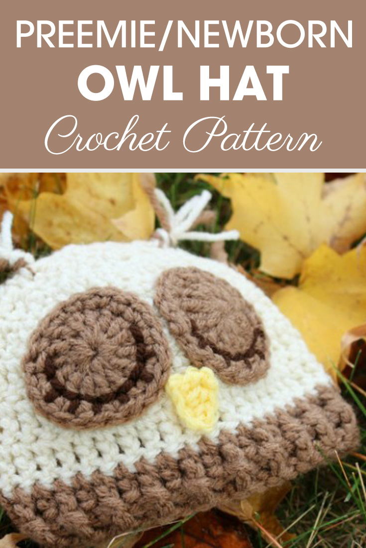 This preemie/newborn sleepy owl hats is neutral for a girl or boy! Maybe you could donate one! #crochet #crochetlove #crochetaddict #crochetpattern #crochetinspiration #ilovecrochet #crochetgifts #crochet365 #addictedtocrochet #yarnaddict #yarnlove