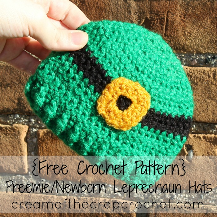 3a9bbe396bb Cream Of The Crop Crochet ~ Preemie Leprechaun Hat  Free Crochet Pattern