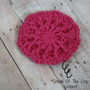 Cream Of The Crop Crochet ~ Ferris Wheel Face Scrubbie {Free Crochet Pattern }
