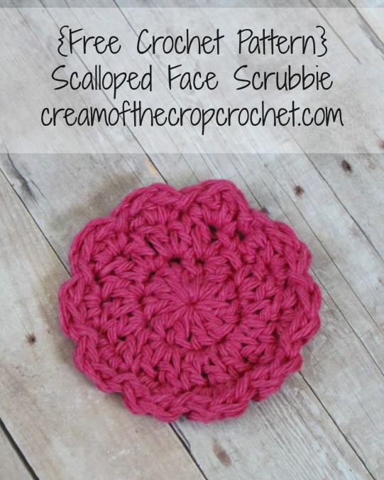Cream Of The Crop Crochet ~ Scalloped Face Scrubbie {Free Crochet Pattern}