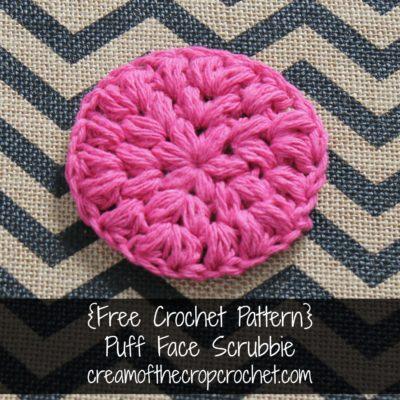 Puff Face Scrubbie Crochet Pattern