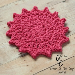 Cream Of The Crop Crochet ~ Picot Face Scrubbie {Free Crochet Pattern}