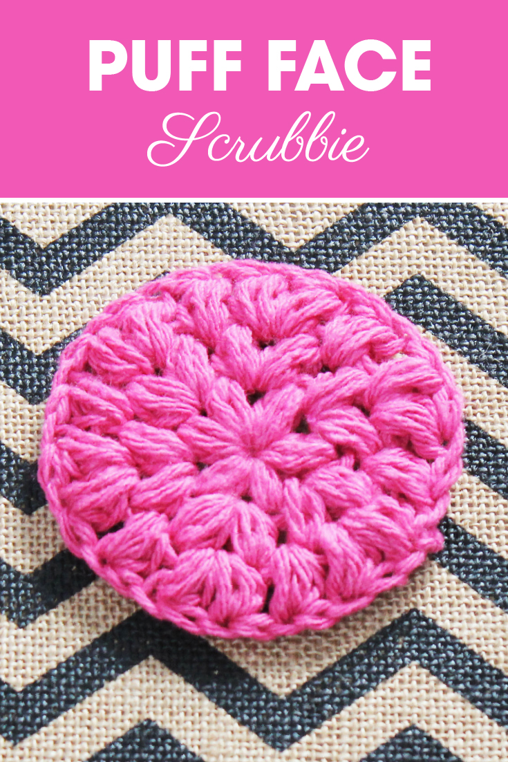 Make this puff face scrubbie for your relaxing spa day. #crochet #crochetlove #crochetaddict #crochetpattern #crochetinspiration #ilovecrochet #crochetgifts #crochet365 #addictedtocrochet #yarnaddict #yarnlove #facescrubbie