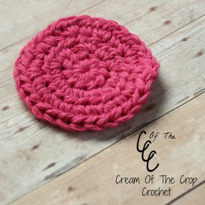 Cream Of The Crop Crochet ~ Half Double Crochet Face Scrubbie {Free Crochet Pattern}