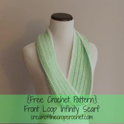Front loop Cowl Crochet Pattern