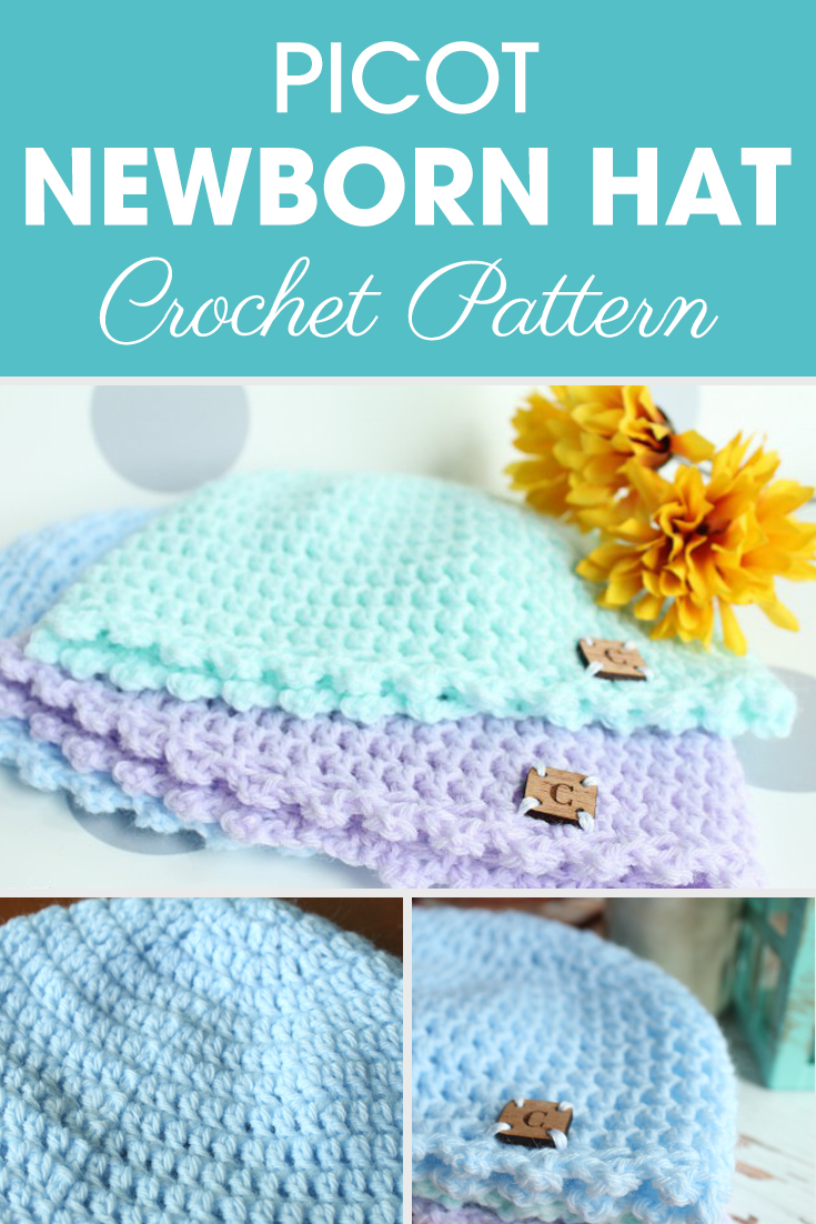 Make this Picot Newborn Hat with Ashley for a little one in your life or even to stock up for your next craft show!#crochet #crochetlove #crochetaddict #crochetpattern #crochetinspiration #ilovecrochet #crochetgifts #crochet365 #addictedtocrochet #yarnaddict #yarnlove #crochethat