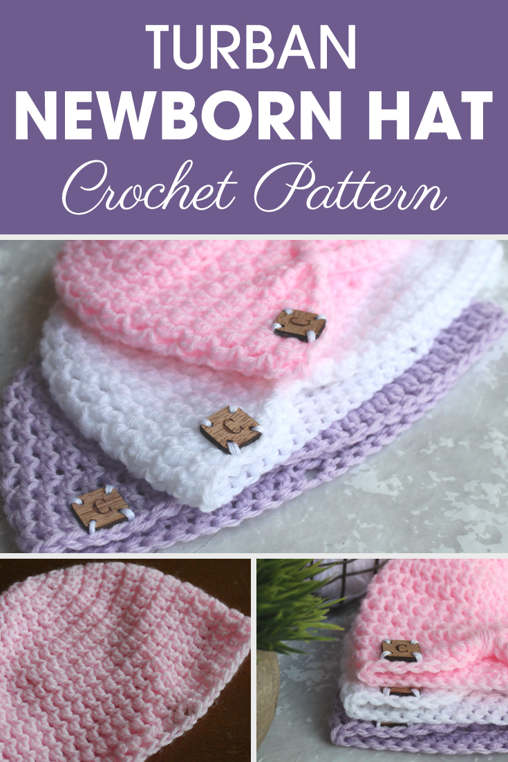 This Turban Newborn Hat is a fashionable additional accessory for your little one's wardrobe! #crochet #crochetlove #crochetaddict #crochetpattern #crochetinspiration #ilovecrochet #crochetgifts #crochet365 #addictedtocrochet #yarnaddict #yarnlove #crochethat