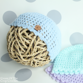 Picot Newborn Hat Crochet Pattern | Cream Of The Crop Crochet