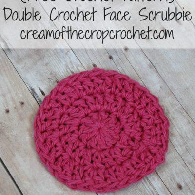 Double Crochet Face Scrubbie Crochet Pattern
