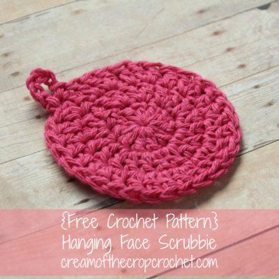 Hanging Face Scrubbie Crochet Pattern